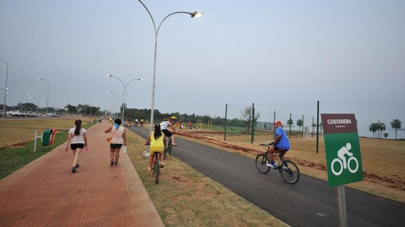 Camineros y ciclovía